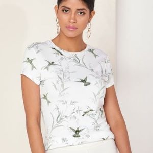 TED BAKER London Fortune Fitted Print Top 5